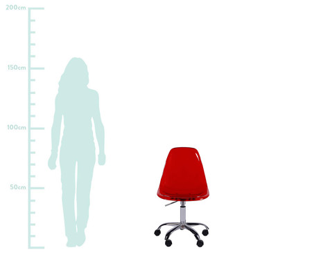 Cadeira Eames com Rodízio - Vermelha | WestwingNow