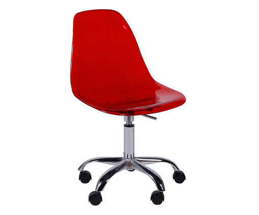 Cadeira Eames com Rodízio - Vermelha, Branco, Colorido | WestwingNow