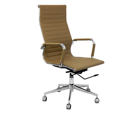 Cadeira de Escritório com Rodízios Glove Alta - Caramelo | WestwingNow