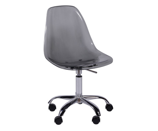 Cadeira com Rodízios Eames - Fumê, Branco, Colorido | WestwingNow