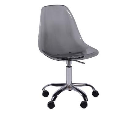 Cadeira com Rodízios Eames - Fumê | WestwingNow