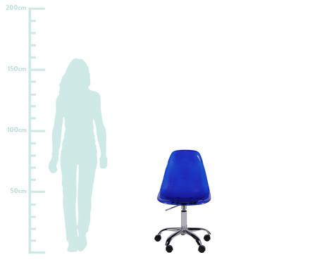 Cadeira com Rodízios Eames - Azul Transparente | WestwingNow