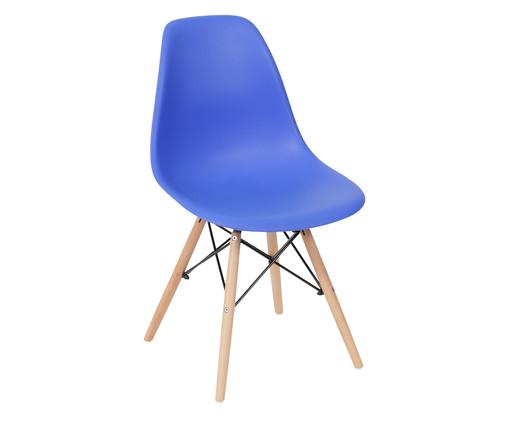 Cadeira de Madeira Eames Wood - Azul Escuro, Azul | WestwingNow