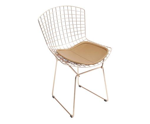 Cadeira em Ferro Cromado Bertoia - Acobreada, Cobre | WestwingNow
