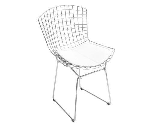 Cadeira em Ferro Cromado Bertoia - Branca, Branco | WestwingNow