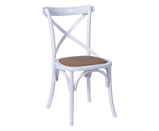 Cadeira Cross - Branca, Branco, Colorido | WestwingNow