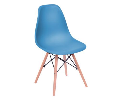 Cadeira Eames Wood - Azul Petróleo, Branco, Colorido   WestwingNow