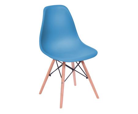 Cadeira Eames Wood - Azul Petróleo | WestwingNow