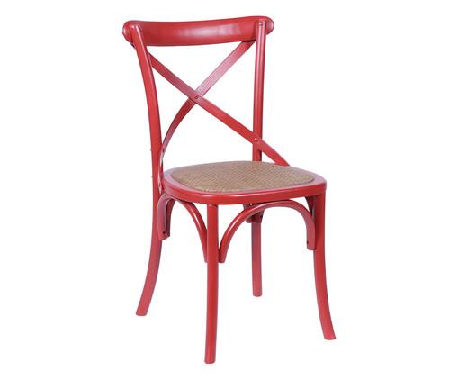 Cadeira de Madeira Cross - Vermelha, Vermelho, Colorido   WestwingNow