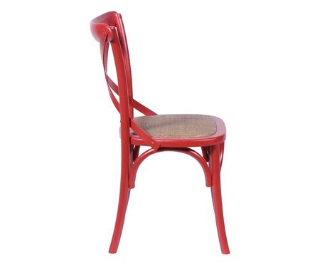 Cadeira de Madeira Cross - Vermelha | WestwingNow