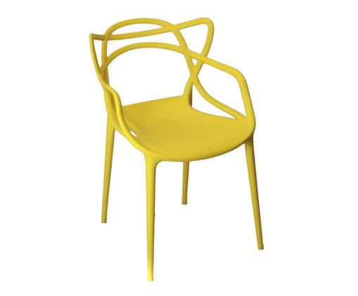 Cadeira Allegra - Amarela, Amarelo, Colorido | WestwingNow