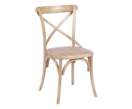 Cadeira de Madeira Cross - Natural | WestwingNow