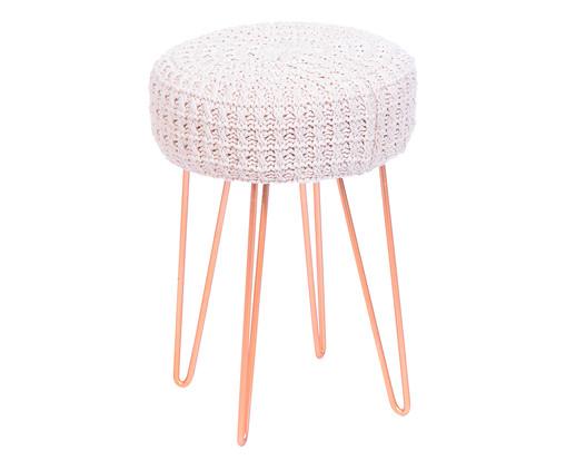 Pufe Willow Crochet - Branco, Branco, Colorido | WestwingNow