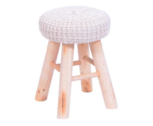 Pufe Lana Crochet - Branco, Branco, Colorido | WestwingNow