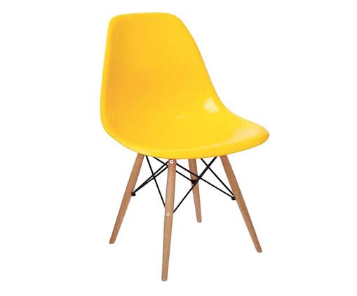 Cadeira Eames Wood - Amarelo Ipê, Branco, Marrom, Colorido | WestwingNow