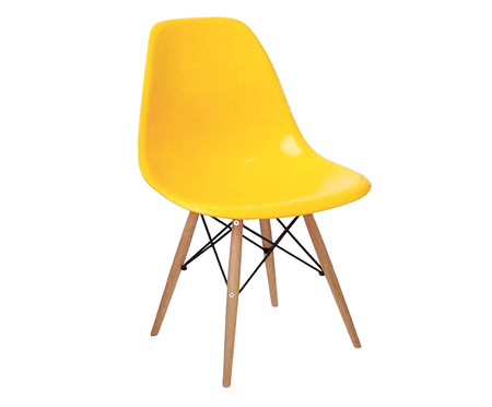 Cadeira Eames Wood - Amarelo Ipê | WestwingNow