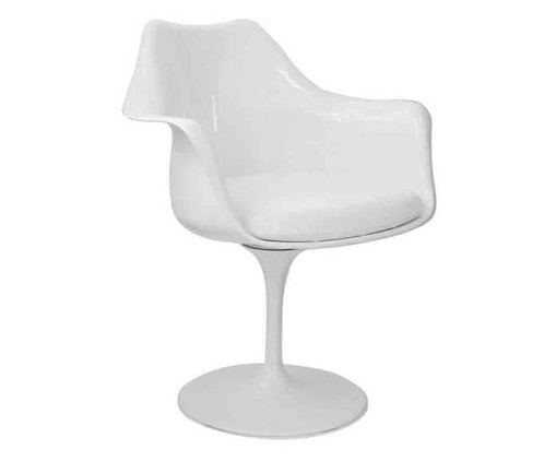 Cadeira com Braços Saarinen - Branca, Branco, Colorido | WestwingNow