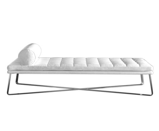 Chaiselongue de Couro Ana - Branco, Branco, Colorido | WestwingNow