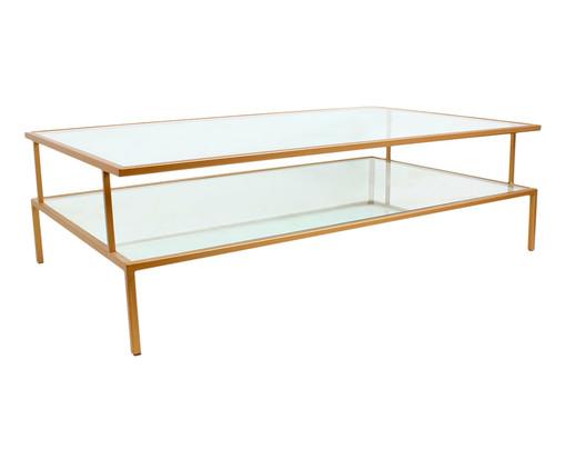 Mesa de Centro Retangular Statment - Dourado, Dourado, Transparente | WestwingNow