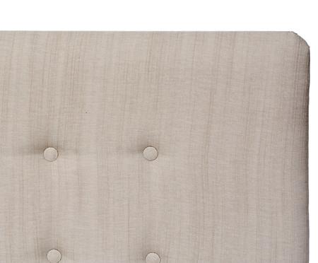 Cabeceira Painel em Linho com Botões Donna - Bege | WestwingNow