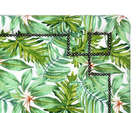 Cabeceira Painel em Linho com Tachas Cristhie - Verde | WestwingNow