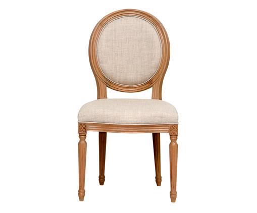 Cadeira de Madeira Medalhão - Bege, Bege | WestwingNow