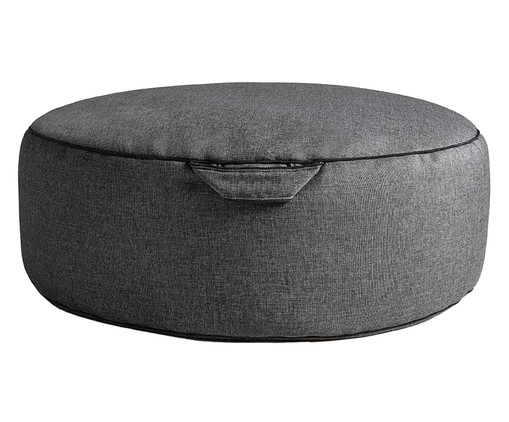 Pufe em Linho Confort - Cinza Escuro, Cinza, Colorido | WestwingNow