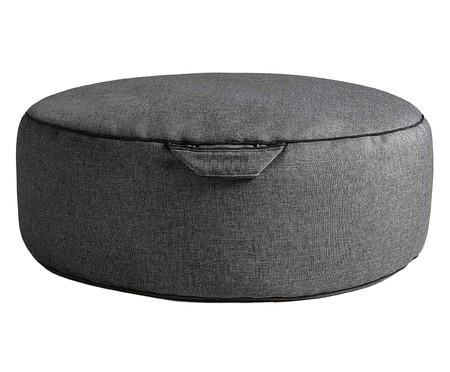 Pufe em Linho Confort - Cinza Escuro | WestwingNow