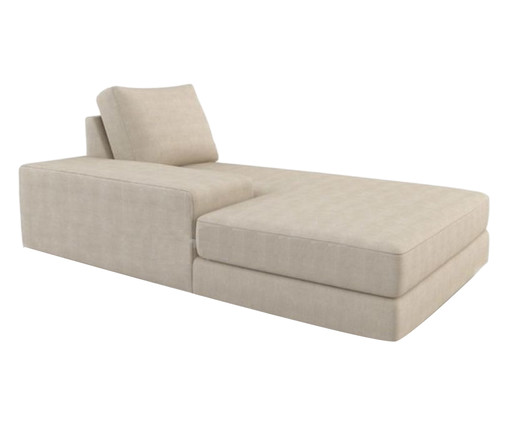 Chaise Longue de Madeira Thomas - Bege, Branco, Colorido | WestwingNow