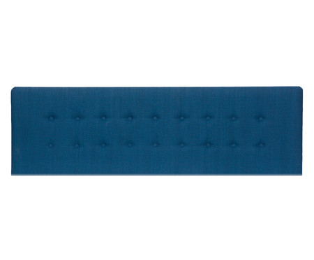 Cabeceira Painel em Linho com Botões Donna - Azul Marinho | WestwingNow