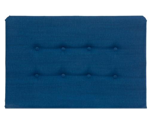 Cabeceira Painel em Linho com Botões Donna - Azul Marinho, Azul | WestwingNow
