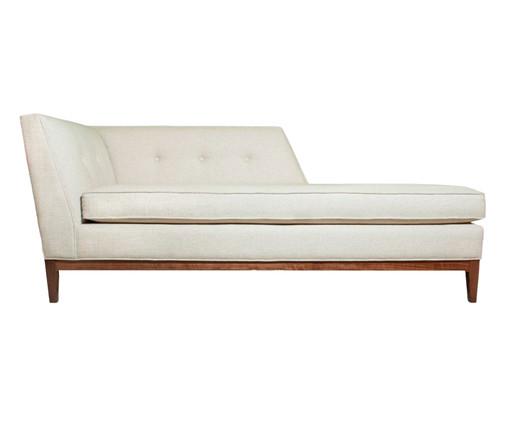 Chaise Longue em Linho de Madeira Bismark - Cru, Branco, Colorido | WestwingNow