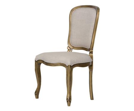 Cadeira de Madeira Luiz Felipe - Cinza e Dourada | WestwingNow