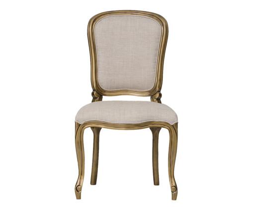 Cadeira Luiz Felipe - Cinza e Dourada, Branco, Colorido | WestwingNow