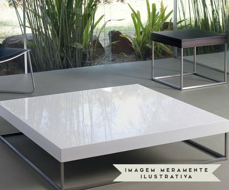 Mesa de Centro em Madeira e Metal Nelson - Branca | WestwingNow