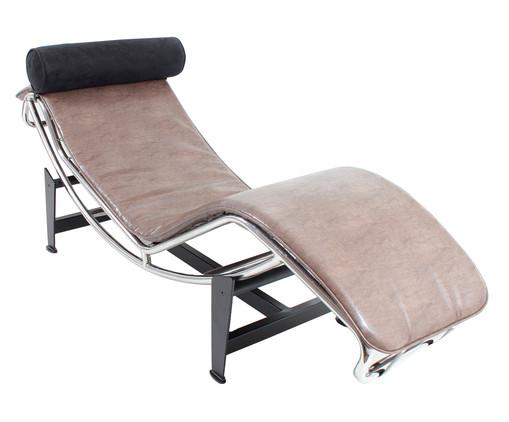 Chaiselongue em Couro Ecológico Le Corbusier - Cru, Branco, Colorido | WestwingNow