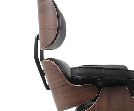 Poltrona em Couro Charles Eames - Preta | WestwingNow