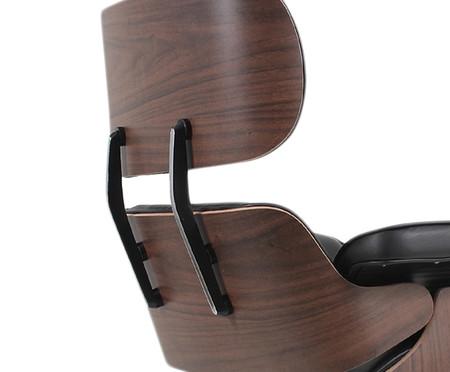 Poltrona em Couro com Rodas Charles Eames - Preta | WestwingNow