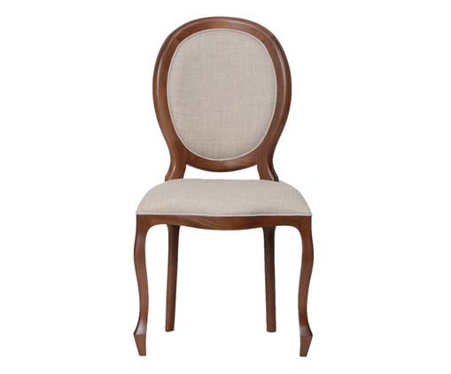 Cadeira de Madeira Medalhão - Crua e Marrom, Branco, Colorido | WestwingNow