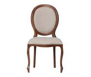 Cadeira Medalhão - Cru e Marrom | WestwingNow