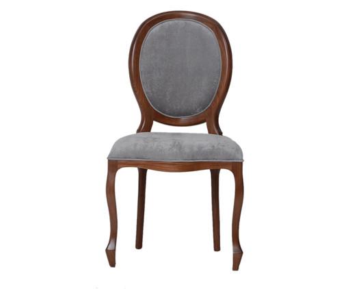 Cadeira de Madeira Medalhão - Chumbo, Branco, Colorido | WestwingNow