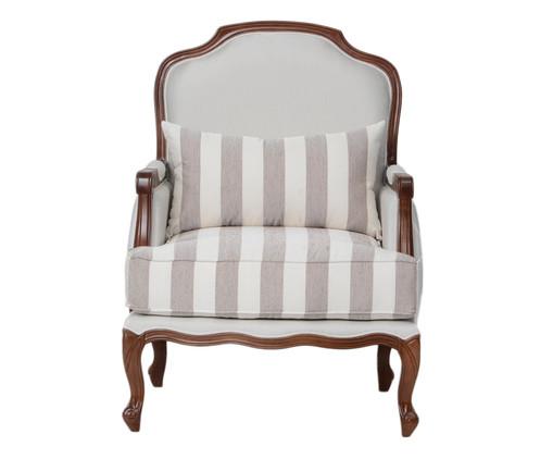 Poltrona Imperial de Madeira Maciça Provençal Listrada - Cinza, Branco, Colorido | WestwingNow
