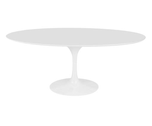 Mesa de Jantar Tulipa Oval - Nanoglass Branco, Branco | WestwingNow