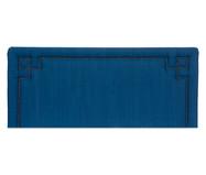 Cabeceira em Linho com Tachas Christie - Azul | WestwingNow
