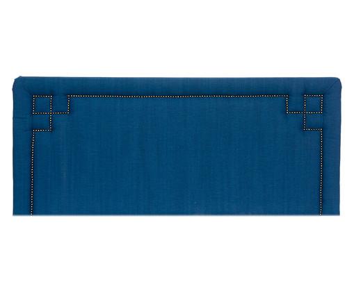 Cabeceira Painel em Linho com Tachas Christie - Azul, Azul   WestwingNow