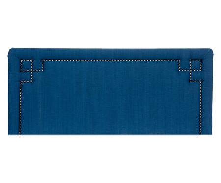 Cabeceira Painel em Linho com Tachas Christie - Azul | WestwingNow