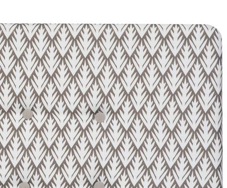 Cabeceira Painel em Linho com Botões West - Cinza | WestwingNow