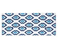 Cabeceira em Linho com Botões West Geometric - Azul | WestwingNow