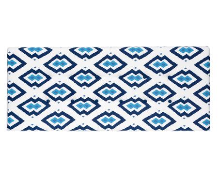Cabeceira Painel em Linho com Botões West Geometric - Azul | WestwingNow