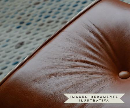 Poltrona com Pufe em Couro Charles Eames - Caramelo | WestwingNow